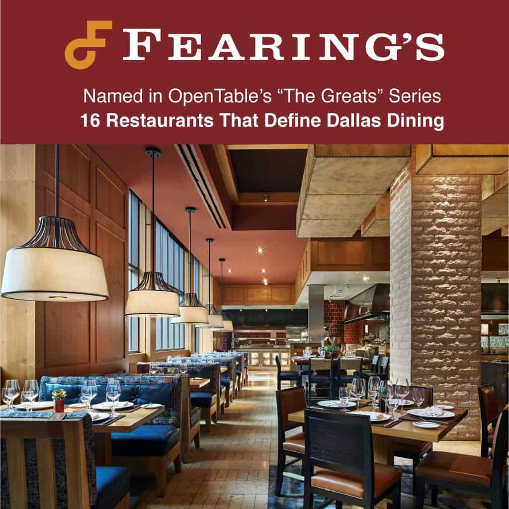 Fearings Named Top Restaurant