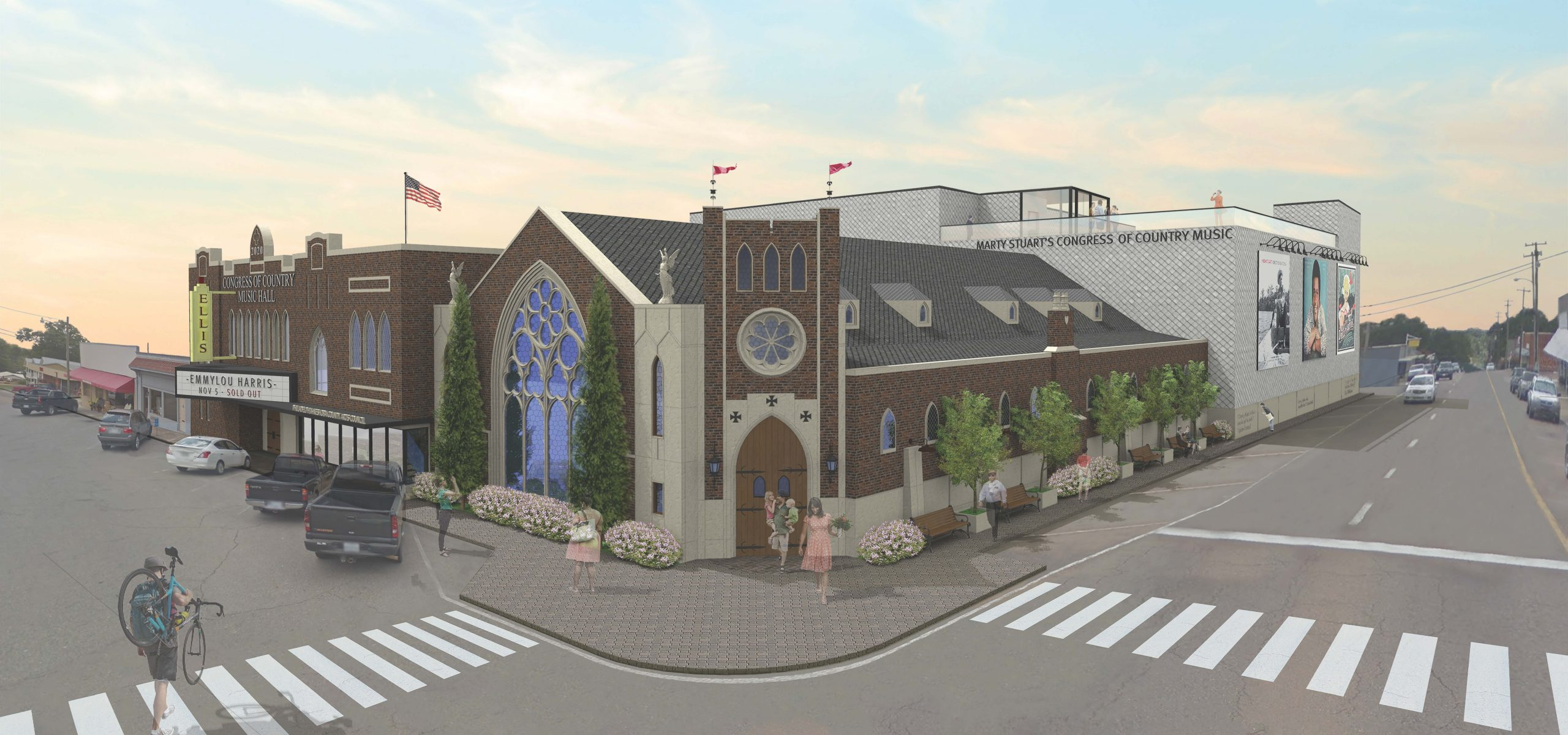 congress of country music exterior rendering