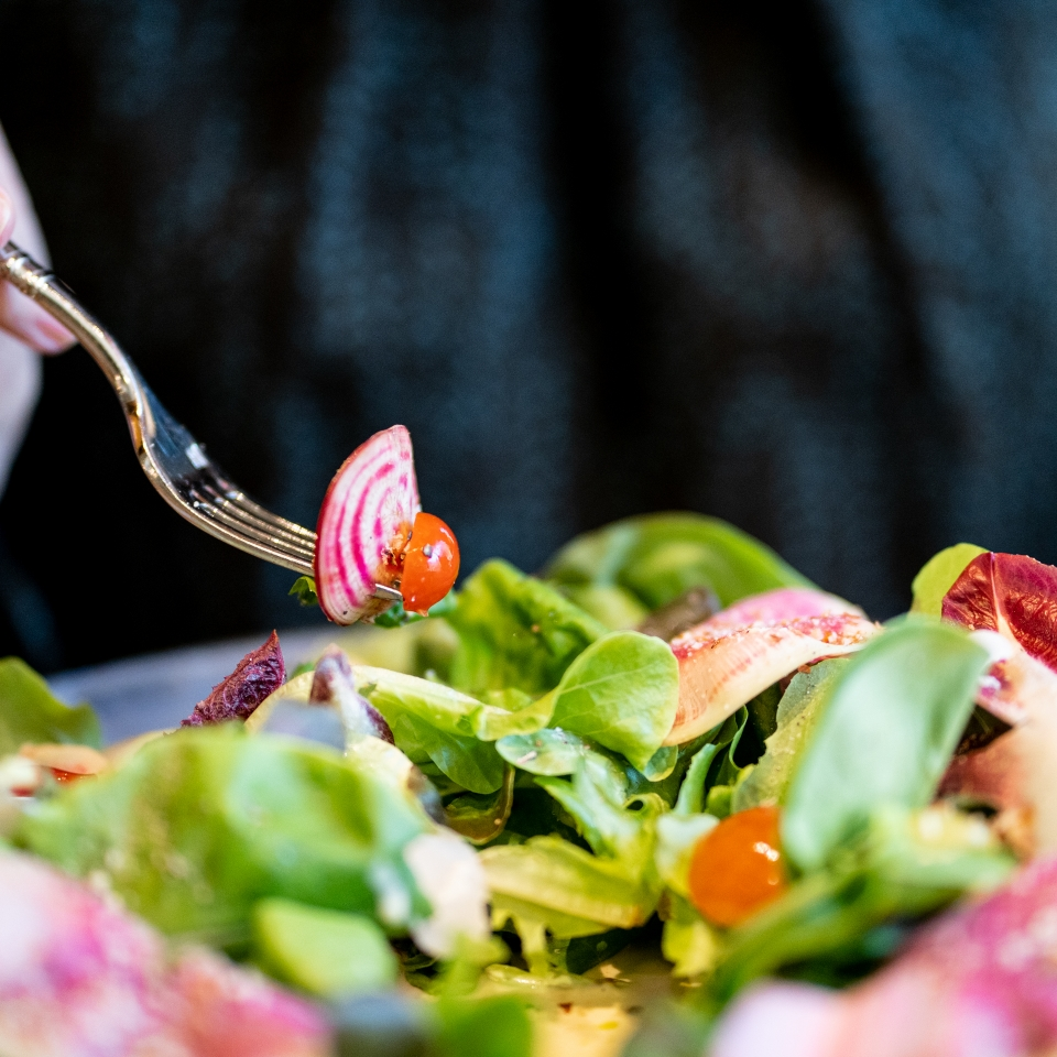 """House Salad """"Composée"""" from the new fall lunch menu"""